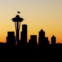 seattle skyline silhouette - Google Search