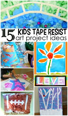 Tape Resist Art Projects for Kids to Create - Crafty Morning