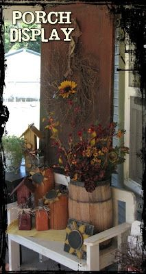 Prim Fall Porch Ideas...by On The Avenue.  You Might like this Patty!