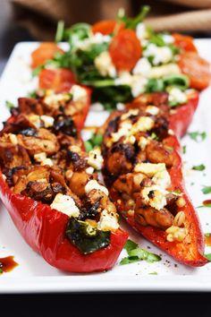 Balsamic - Chicken & Feta - Stuffed Peppers - Recipe - Slimming World - Syn Free - Gluten Free - Summer - Easy - Lunch