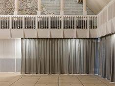 ACOUSTIC curtain references - Douglas Textiles | Nest EMPA Blackout Curtains, Valance Curtains, Acoustic, Switzerland, Nest, Innovation, Textiles, Studio, Building