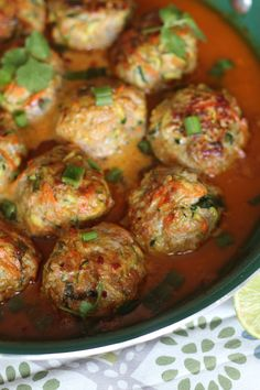 Thai Pork & Veggie Meatballs in Curry Sauce These were AWESOME!