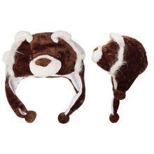 Wholesale Brown Bear Animal Hat A102 (1 pc.) $3.50 a piece