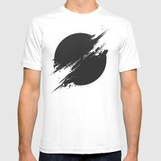 The Sun Is Black MEDIUM White Mens Fitted Tee