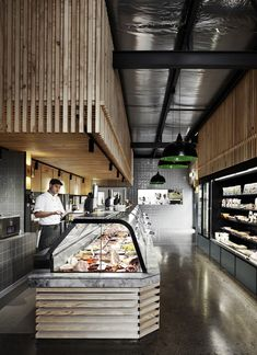 Timber clad counter at Cannings Butcher in Hawthorn by Fiona Lynch.