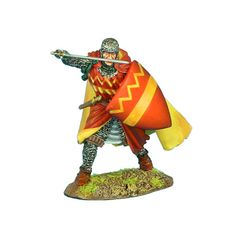 CRU071 Crusader Knight with Cloak with Sergines Family Heraldry