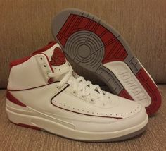 half off 8b9ae bffd0 Air Jordan 2 White Red Clean White Leather, Jordan Release Dates, Sneaker  Brands