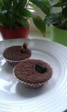 Chocomuffins with sweets