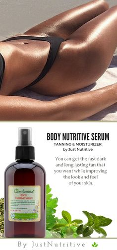 Imagine improving the look and feel of your skin quickly and easily with the Body Nutritive Serum when tanning. Perfect to restore moisture to mature skin.