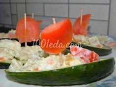 Детский овощной салат Алый парус: рецепт с пошаговым фото