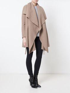 Harris Wharf London Draped Wool Over-Coat