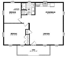 24 X 36 House Plans Alpine 24 X 36 Three Bedroom Home