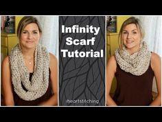 Easy Crochet Infinity Scarf Tutorial - YouTube