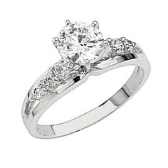.925 Sterling Silver Round-cut CZ Cubic Ziconia Solitaire with side-stone Ladies Wedding Wedding Engagement Ring Band (Size 5 to 9) The World Jewelry Center. $29.00. Special manufacturing process held to ensure less wear and tarnish. Made From Beautiful .925 Sterling Silver. Fashionable and elegant styling. Promptly Packaged with Free Gift Box and Gift Bag