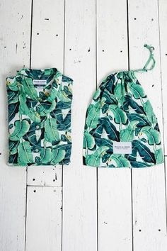 Masini & Chern - Banana Leaf Pyjamas. (it's so funny, with little more yellow and dark green this would be identical to a tommy bahama print, but I'm still digging it no matter what), Ah the profound and the blasé both have something of interest to share