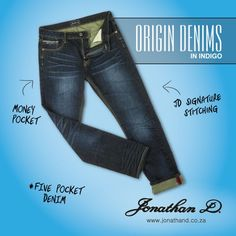 Back to basics with Jonathan D's Origin Denims. Made from a cotton fabrication, they feature slight creasing detailing with five pockets, branded tape and lightly abraded back patch pockets. Back Patch, Summer 2014, Indigo, Tape, Street Style, Pockets, The Originals, Denim, Creative