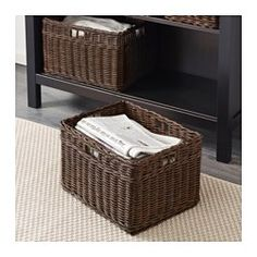 IKEA - GABBIG, Basket, Practical storage for everything from bathroom items to hobby items and magazines.You can also use the basket in damp areas such as the bathroom.The basket is hand woven and therefore has a unique look.Easy to pull out and lift as the basket has handles.