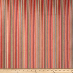 Waverly Murano Jacquard Stripe Gem from @fabricdotcom  Refresh and modernize any home decor with this heavyweight jacquard fabric. Perfect fabric for revitalizing an old piece of furniture and updating it with a new look. This fabric is an appropriate weight for window treatments, accent pillows, upholstering furniture, headboards, poufs and ottomans. This fabric has 51,000 double rubs. Colors include orange, red, coral, turquoise, aqua and green.