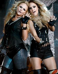 Miranda Lambert, Carrie Underwood in Somethin' Bad Video