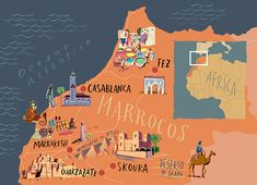 Nik Neves - Map of Morocco for Selections Travel Agency