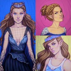 CREDIT: xdeadonarrivalx Feyre, Nesta and Elain: ACOMAF ACOWAR ACOTARS SARAH J MAAS OR OTHER Character animations