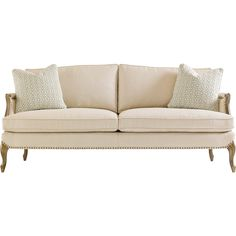 Osie French Beige Herringbone Antique Gilt Sofa ($3,092) ❤ liked on Polyvore featuring home, furniture, sofas, ivory sofa, gilt furniture, ivory couch, ivory furniture and cream furniture