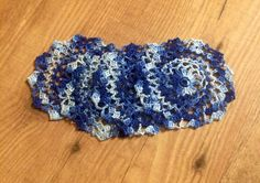 Handmade USA Farmhouse Rustic Crochet Doilies 4 Blues | eBay