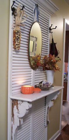 Uses For Shutters - repurposed shutters