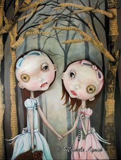 Pop Surrealism Sisters Fairy Tale Low Brow Art by michelelynchart, $20.00