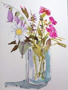 foxglove and dog rose more at Annabel Burton Art on facebook