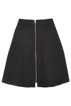 Zip Through A-Line Skirt