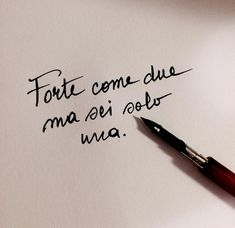 Forte come 2 ma sei 1 Italian Phrases, Italian Quotes, Italian Quote Tattoos, Simple Quotes, Love Quotes, Minimal Quotes, Motivational Phrases, Inspirational Quotes, Cool Words