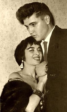 ♡♥Elvis with 18 yr old Vera Tschechowa who was one of his steady girlfriends in Germany♥♡