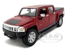 2009 Hummer Diecast Car Model Red Die Cast Car by Maisto Ford Ranger Pickup, Diecast Model Cars, Hummer, Scale Models, Police, Monster Trucks, Toys, Vehicles, Red