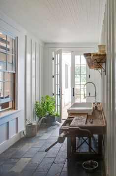 House Tour: American Farmhouse - Design Chic - love the wood sink