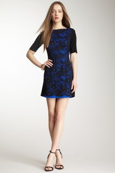 Silk Blend Lace Dress