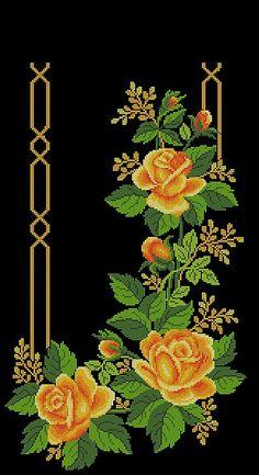 Details about Cross stitch PATTERN - Flower Borders - Ukrainian Vyshyvanka - Mexican Boho Cross Stitch Borders, Cross Stitch Rose, Cross Stitch Flowers, Modern Cross Stitch, Cross Stitch Designs, Cross Stitching, Cross Stitch Embroidery, Cross Stitch Patterns, Border Embroidery Designs