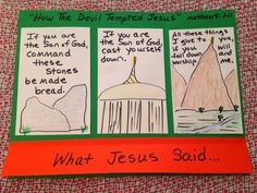 Matthew 4. Jesus' Temptation. Did you know that Jesus was tempted just like we are? Do you know how He resisted temptation? Easy, inexpensive, and unique children's Bible lessons. Free to all! Take a look on the blog and share!