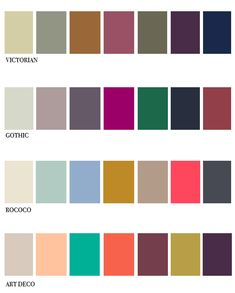 Muted Victorian color palette