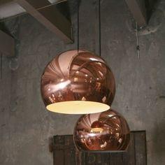 Super leuk, of ik het durf is een andere vraag. Hanglamp Hala Koper - Furnies.nl - copper lamp