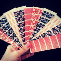 K58 Washi Stickers for Erin Condren Life Planner or Plum Paper Planner
