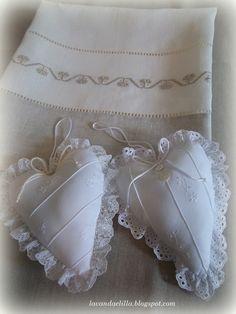 Lavanda e Lillà: Asciugamano e Cuoricini Profumati  <3