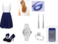 """""""Blue Princess"""" by geovana-soares ❤ liked on Polyvore"""