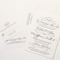 Fresh Ink: Wedding invitation black and white