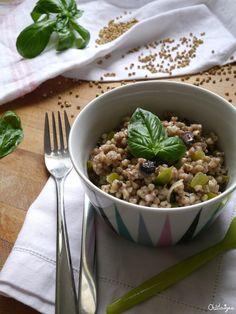Sarrasin aux poivrons verts, olives noires et basilic [pour changer des pâtes et du riz] - Blog de Châtaigne