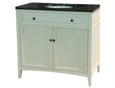 Yosemite Home Decor Single 36 in. W White Birch with MDF Vanity - YV2235-36W. YV2235-36W - Single 36 in. W White Birch with MDF Vanity White finish birch with MDF cabinet, White Ceramic basin, Black granite top, Single vanity Product Specifications Main Cabinet Dimensions 36 W x 22 D x 34 H (inches) .. . See More Vanities at http://www.ourgreatshop.com/Vanities-C705.aspx