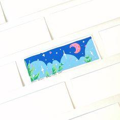 """Night Walk"" Posca painting by Lorin🌱 (Roserinoko) Posca Marker, Marker Art, Easy Art, Simple Art, Posca Art, Traditional Artwork, Pen And Watercolor, Painted Letters, Pen Art"