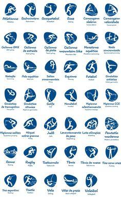 Rio 2016: Revelados os pictogramas dos Jogos Olímpicos