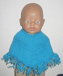 Babyborn Poncho, gratis patroon