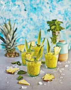 Pass the Food: pineapple & mint granita with a bit of rum